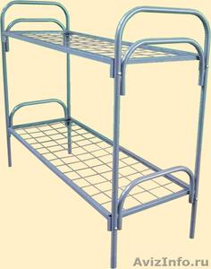 кровати одноярусные и двухъярусные металлические, кровати армейские  - Изображение #3, Объявление #695487