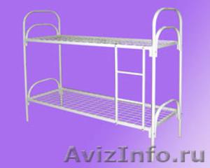 кровати одноярусные и двухъярусные металлические, кровати армейские  - Изображение #1, Объявление #695487