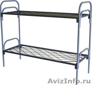 Кровати железные одноярусные для санаториев, кровати для рабочих, кровати оптом - Изображение #2, Объявление #1478852