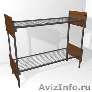 Кровати железные одноярусные для санаториев, кровати для рабочих, кровати оптом - Изображение #5, Объявление #1478852