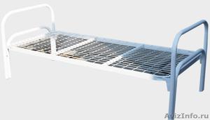 Кровати железные одноярусные для санаториев, кровати для рабочих, кровати оптом - Изображение #4, Объявление #1478852