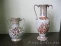 Высокая керамическая ваза для цветов