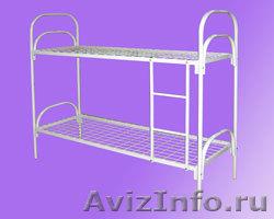 кровати одноярусные и двухъярусные металлические, кровати армейские , Объявление #695487